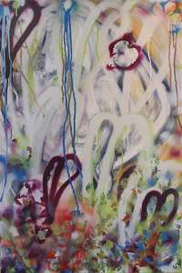 To Her - Mixed media on canvas 69cmx90cm (2010)