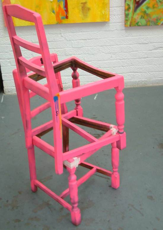 """""""Found pink chairs - Gallery Piece"""" Sean Worrall, April 2012 (£500)."""
