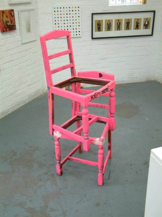 """""""Found pink chairs - Gallery Piece"""" Sean Worrall, April 2012"""