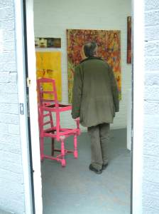 """Found pink chairs - Gallery Piece"" Sean Worrall, April 2012"