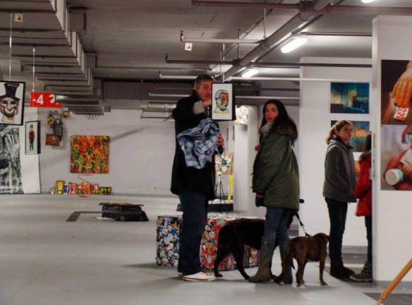Late dogs.... the art has now left the car park, big thanks to all who came and especially Vanya Balogh and team....