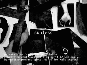 SUNLESS at Bermondsey Project Space opening April 11th