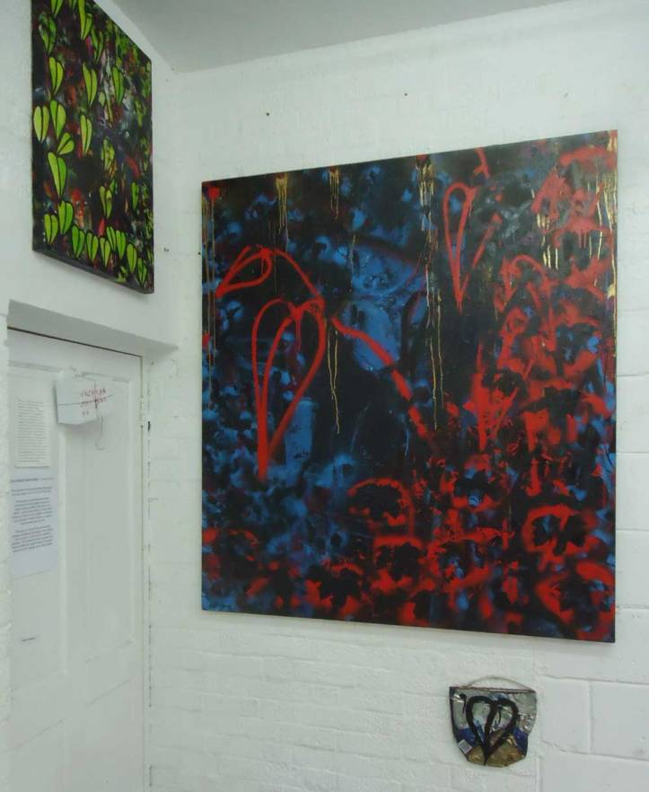 """New layers. - """"Unquiet Slumbers For The Sleepers"""" 150cm x 150cm spray paint on canvas"""
