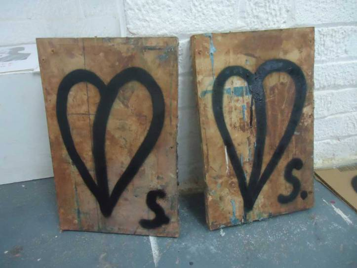 Founded wood painted on - One Pieced Piece #5