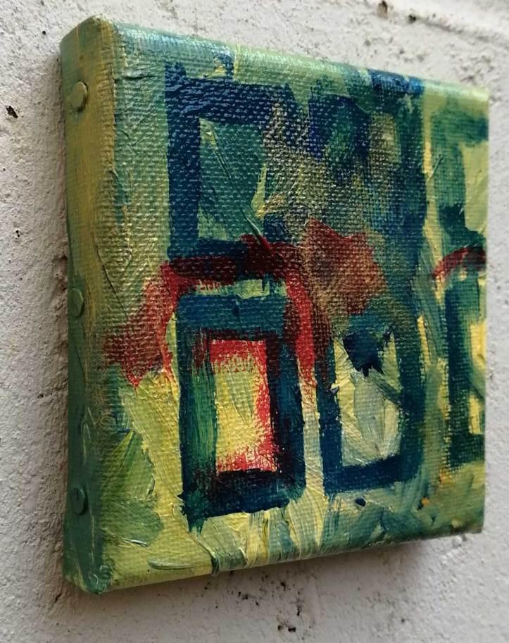"""Ten:104 (Ever)"" - 23rd October 2020 - Acrylic on canvas, 10cm x 10cm x 1cm"