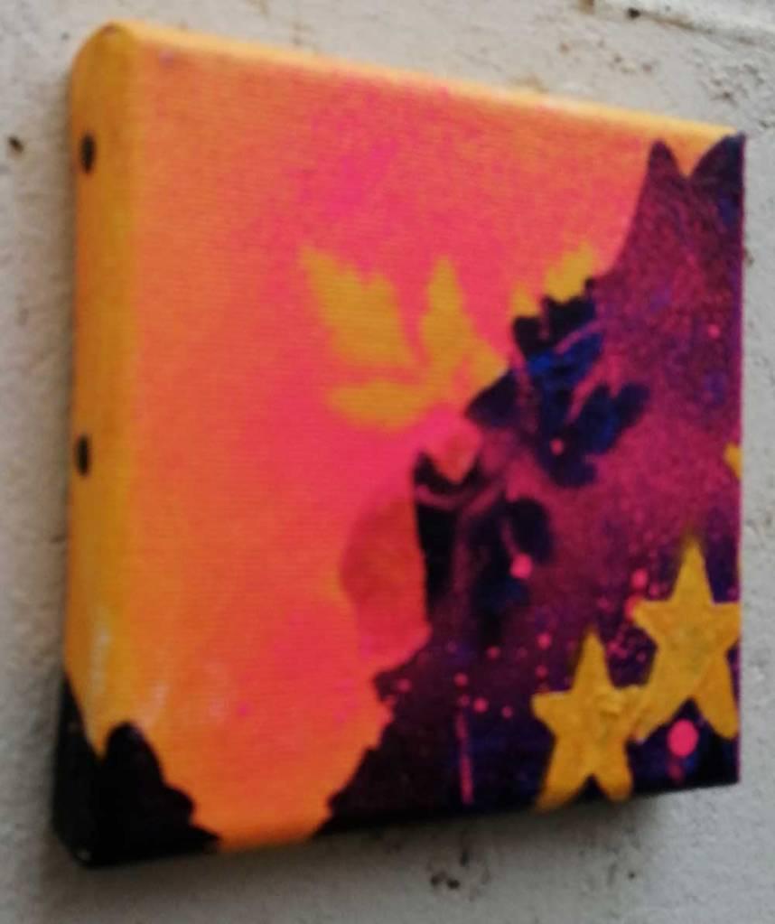 """Ten:112 (That)"" - 31st October 2020 - Acrylic, gloss varnish on canvas 10x10x1cm"