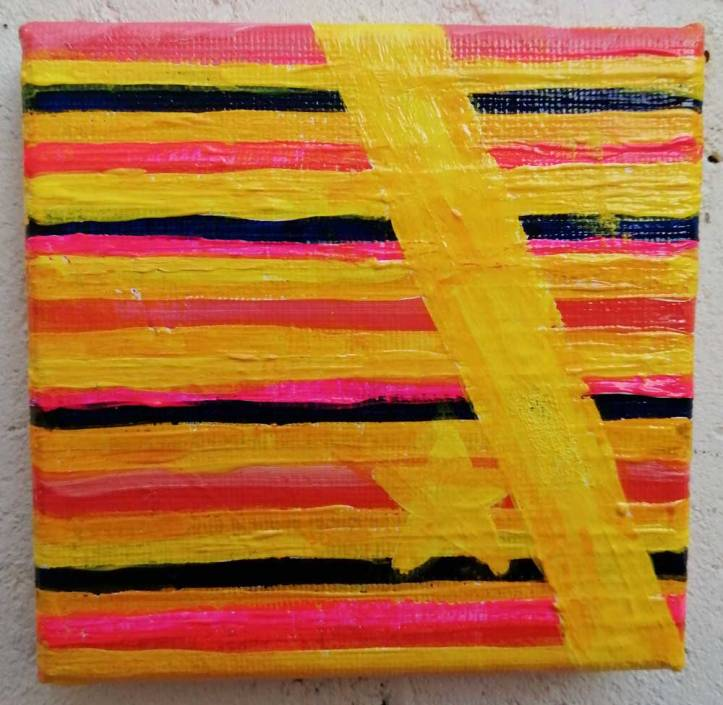 "Ten:115 (Previous)"" - 3rd November 2020 - Acrylic on canvas, 10cm x 10cm x 1cm"